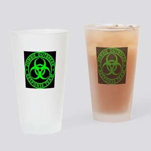 Zombie Outbreak Response Team Sign Drinking Glass