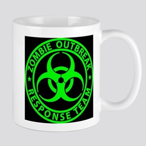 Zombie Outbreak Response Team Sign Mugs
