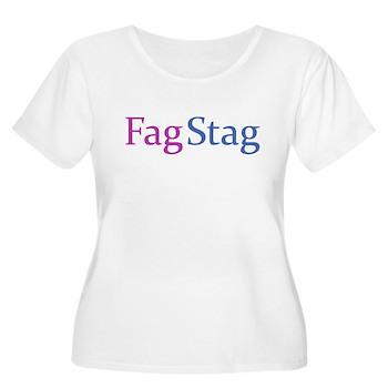Fag Stag Women's Plus Size Scoop Neck T-Shirt