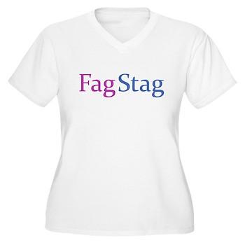 Fag Stag Women's Plus Size V-Neck T-Shirt