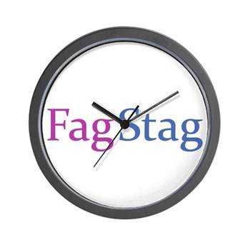 Fag Stag Wall Clock