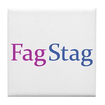 Fag Stag Tile Coaster