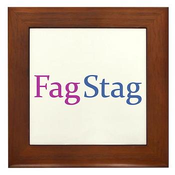 Fag Stag Framed Tile