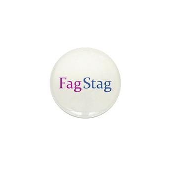 Fag Stag Mini Button