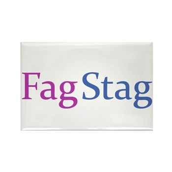 Fag Stag Rectangle Magnet (100 pack)