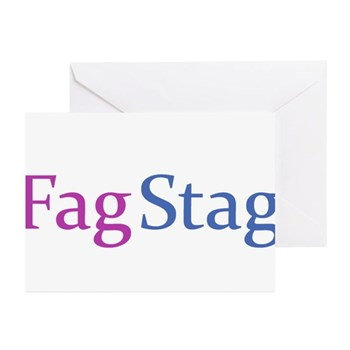Fag Stag Greeting Cards (20 pack)