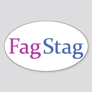 Fag Stag Oval Sticker
