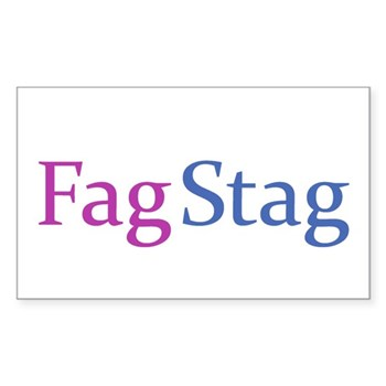 Fag Stag Rectangle Sticker