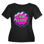 Cool Beans! Women's Plus Size Scoop Neck Dark T-Sh