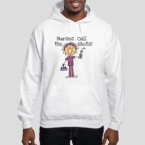 Nurses Call the Shots Hooded Sweatshirt