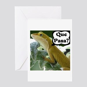 Que Pasa Anole Greeting Card