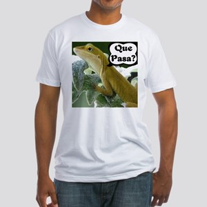 Que Pasa Anole Fitted T-Shirt