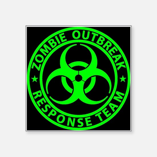 Zombie Outbreak Response Team Sign Sticker