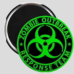 Zombie Outbreak Response Team Sign Magnets