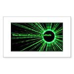 Green Party Rectangle Sticker 10 pk)