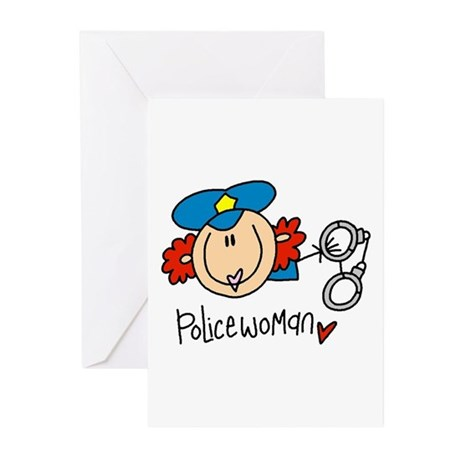 Policewoman Greeting Cards (Pk of 10)