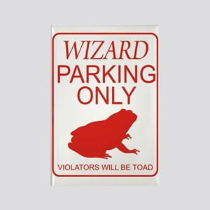 Wizard Parking Rectangle Magnet