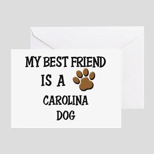 My best friend is a CAROLINA DOG Greeting Card