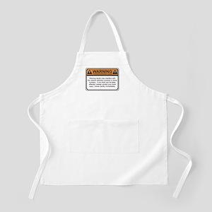 Warning Label BBQ Apron