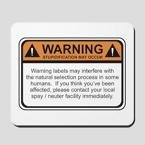 Warning Label Mousepad
