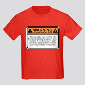 Warning Label Kids Dark T-Shirt