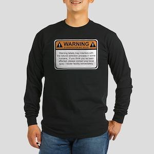Warning Label Long Sleeve Dark T-Shirt