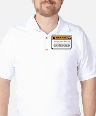 Warning Label Golf Shirt