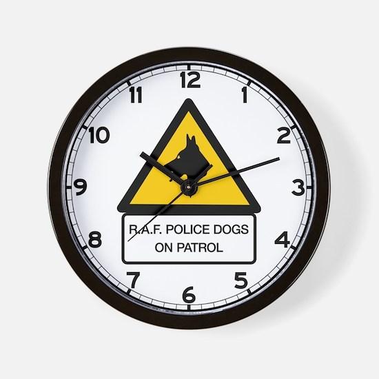 R.A.F. Police Dogs On Patrol, UK Wall Clock