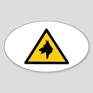 RAF Police Dogs On Patrol, UK Oval Sticker