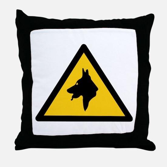 RAF Police Dogs On Patrol, UK Throw Pillow