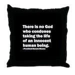 Barack Obama Quotation Throw Pillow