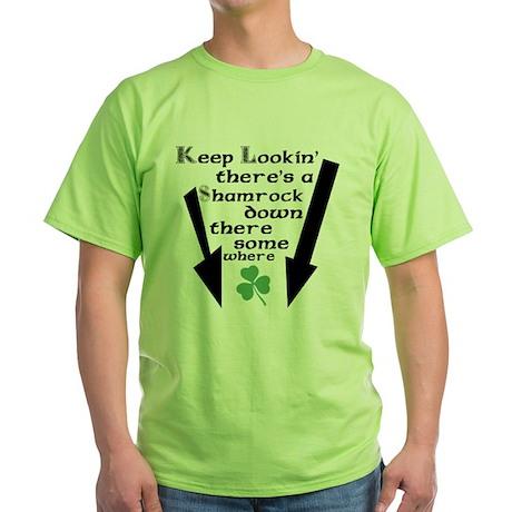 Dirty Irish Joke Green T-Shirt