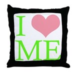 I Heart Me Throw Pillow Lime Green/Pink