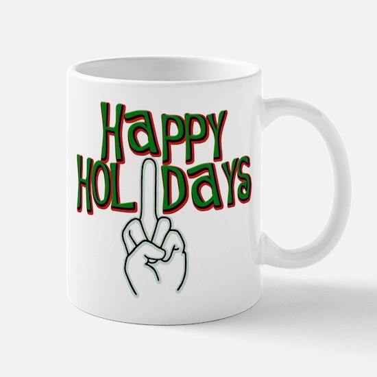 happy holidays finger Kwanzaa Mug