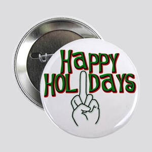 "happy holidays finger Kwanzaa 2.25"" Button (10 pac"