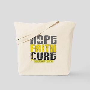 HOPE FAITH CURE Childhood Cancer Tote Bag