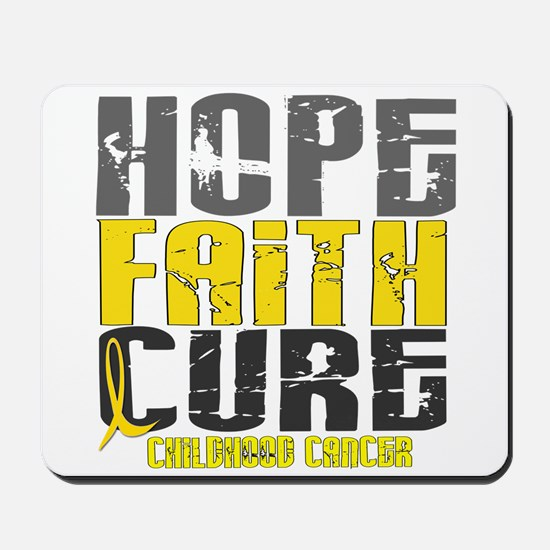 HOPE FAITH CURE Childhood Cancer Mousepad