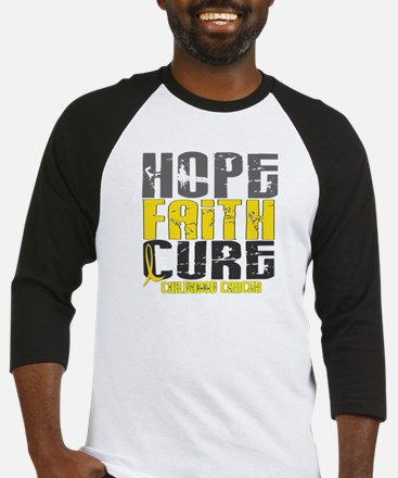 HOPE FAITH CURE Childhood Cancer Baseball Jersey