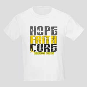 HOPE FAITH CURE Childhood Cancer Kids Light T-Shir