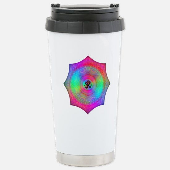 Rainbow Mandala Stainless Steel Travel Mug