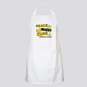 PEACE LOVE CURE Childhood Cancer BBQ Apron