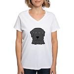 Fun Black Lab Dog Wms V-Neck T-Shirt