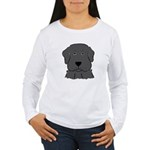 Fun Black Lab Dog Wms Long Sleeve T-Shirt