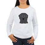 Fun Black Lab Dog Wms Long Sleeve T-Shirt