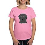 Fun Black Lab Dog Women's Dark T-Shirt