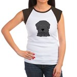 Fun Black Lab Dog Women's Cap Sleeve T-Shirt