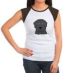 Fun Black Lab Dog Women's Cap Sleeve T-Shirt