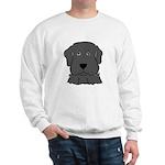 Fun Black Lab Dog Sweatshirt