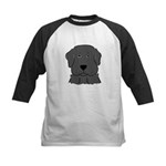 Fun Black Lab Dog Kids Baseball Jersey