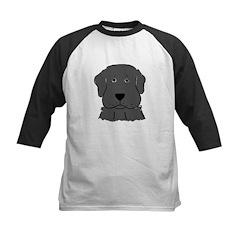 Fun Black Lab Dog Kids Baseball Jersey